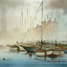 06 - Mist over the pontoons Senglea