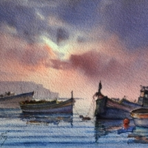 boats at day break