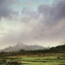 Nimbo cumulus Over Mdina