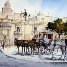 horse cabs at Valletta