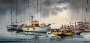 Boat - Horizon - at the jetty