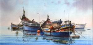 Boats at Marsaxlok - Malta