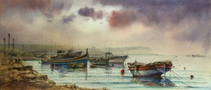 Boats at Marsaxlokk - Malta