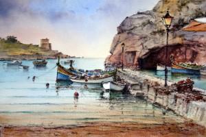 Calm waters at Xlendi - Gozo