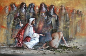 Christ and the adulterous woman - Rm 12