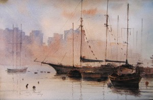 Dawn over Gzira Creek -Malta