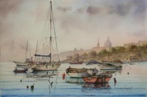 Gzira creek -dawn  - Malta
