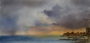 Morning storm over Qbajjar Gozo.