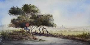 Road outside Siggiewi - Malta