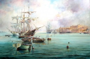 Shipping at Marsamxett harbour - Malta