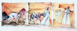 Triptych -the good Samaritan