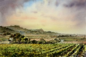 View of Distant Mdina - Malta