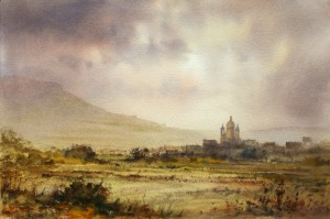 View of Ghasri on a late Spring afternoon - Gozo