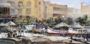 boats at the Menqa Marsalforn - Gozo