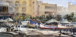 boats at the Menqa Marsalforn - Gozo